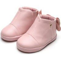 Bota Pampili Infantil Laço Rosa