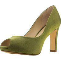 Peep Toe Santa Scarpa Sapato De Noiva E Festa Lp1 Verde Olive