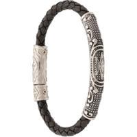 Nialaya Jewelry Pulseira Trançada - Preto