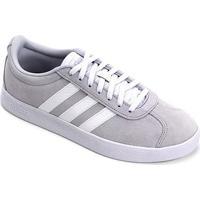 Tênis Adidas Vl Court 2.0 Feminino - Feminino-Cinza+Branco