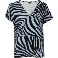Blusa Le Lis Blanc Leticia Estampado Feminina (Zebra Print, 36)
