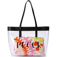 Emilio Pucci Junior Bolsa Tiracolo Transparente Com Estampa De Logo - Rosa