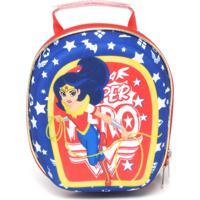Lancheira Max Toy Super Hero Girls Azul/Vermelho