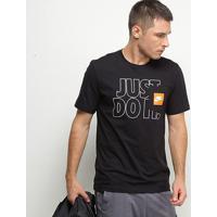 Camiseta Nike Nsw Pkt Jd Masculina - Masculino-Preto