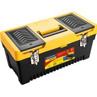 Caixa Plástica Para Ferramenta Injetada Utility I Preta E Amarela 20 L