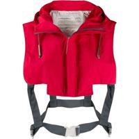 A-Cold-Wall* Cropped Shoulder Gilet - Vermelho