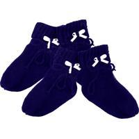 Kit 2 Pares De Sapatinho Tamine Tricô Especial Azul Marinho