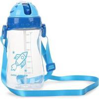 Garrafa Infantil Jacki Design Foguete - Masculino-Azul Claro