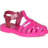 Sandália Rasteira Infantil Grendene Glitter Pink