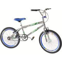 e5aa06ed25299 Netshoes; Bicicleta Aro 20 Onix Cross Cromada Com Aero E Selim - Unissex