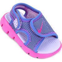 Sandália Nike Sunray Adjust 4 Infantil - Feminino-Azul+Roxo