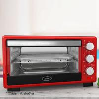 Forno Elã©Trico- Inox & Vermelho- 42,6X50,4X31,5Cm