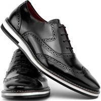 1d5b34b38 ... Sapato Social Gofer Com Cadarço Solado De Couro Masculino - Masculino- Preto