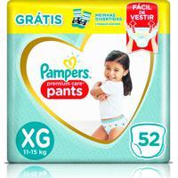 Fralda Pampers Pants Premium Care Xg 52 Unidades + 1 Par De Meias Infantis