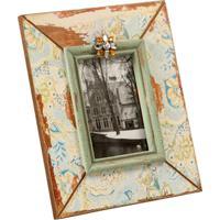 Porta-Retrato De Madeira Minne Decorativo Com Detalhe De Pedras