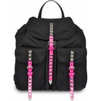 Prada Stud Embellished Backpack - Preto
