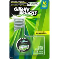 Carga Gillette Mach 3 Sensitive 16 Unidades