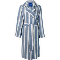 Simon Miller Trench Coat Listrado - Azul