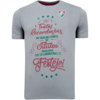 Camiseta Do Fluminense Title - Masculina - Mescla