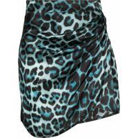 Gauge81 Sendai Leopard Print Mini Skirt - Azul