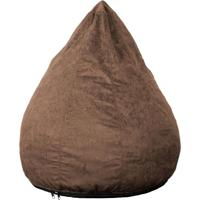 Puff Confort Pera Suede Marrom Claro 90 Cm