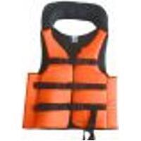 Colete Salva Vidas Auxiliar Flutuação Pesca Advance Laranja 120Kg