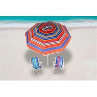 Guarda Sol Articulado 2,40M + 2 Cadeiras Alumínio Bel Lazer - Unissex