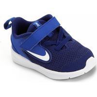 Tênis Infantil Nike Downshifter 9 Velcro Tdv - Unissex-Azul+Marinho
