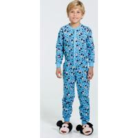 Pijama Macacão Infantil Mickey Disney
