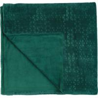 Manta Dupla Face Casal Altenburg Blend Elegance Plush Prisma - Verde Verde