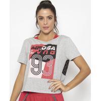 Blusa Com Linho- Cinza & Preta- Morena Rosamorena Rosa