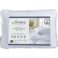 Travesseiro Em Cetim Suporte Firme- Branco- 3,5X66X4Altenburg