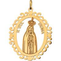 Pingente Nossa Senhora De Fátima Em Ouro 18K - Unissex