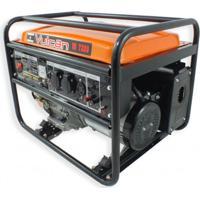 Gerador De Energia A Gasolina 4 Tempos Vg7200 7200W Laranja Vulcan Ferramentas