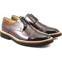 Sapato Social Couro Adolfo Turrion Confort Masculino - Masculino-Vinho
