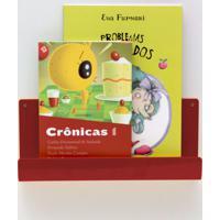 Organizador Quartinhos Porta Livros E Revisteiro De Parede Infantil Vermelho