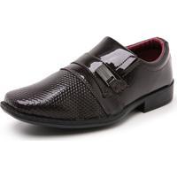 Sapato Infantil Mr Shoes Verniz Marrom