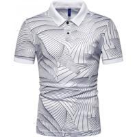 Camisa Polo Join Venture Estampada - Branca Xg