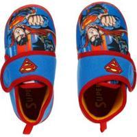 Pantufa Justice League Juvenil Para Menino - Azul