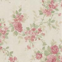 Papel De Parede Flores Bege E Rosa (950X52)