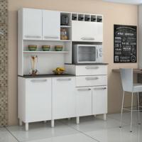 Cozinha Compacta Monte Rey 7 Pt 2 Gv Branco Brilho