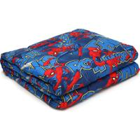 Edredom Solteiro Lepper Kids Spider Man 1,50X2,00M Azul