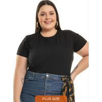Body Básico Preto Miss Masy Plus