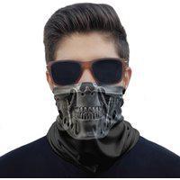 Máscara Bandana Caveira Robô Metal Proteção Ciclismo Moto.