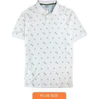 Camisa Branca Polo Coqueiros Em Piquê