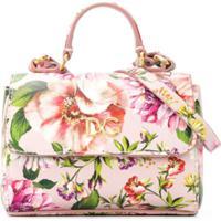 Dolce & Gabbana Kids Bolsa Tote Com Estampa Floral - Rosa
