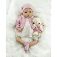 Boneca Bebezinho Reborn Realista Cabelo Curto - 55 Cm