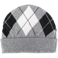 Pringle Of Scotland Gorro De Tricô Com Padronagem - Cinza