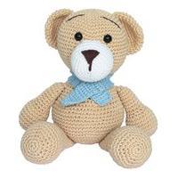 Urso Cachecol Ursinho Amigurumi Crochê Menino Bebê Infantil Potinho De Mel