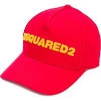Dsquared2 Kids Boné Com Logo - Vermelho